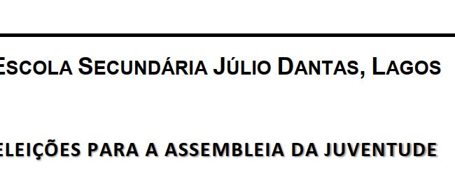 Assembleia da Juventude - Representantes da EB Tecnopolis (2018)