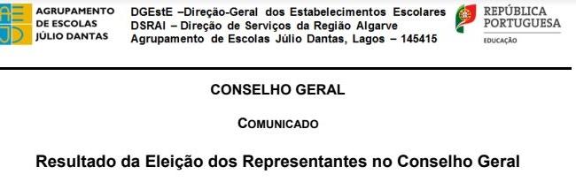 Eleições para o Conselho Geral 2017