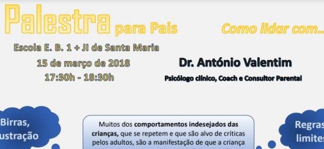Palestra com o Psicólogo António Valentim