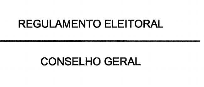 Eleição de Representantes no CG